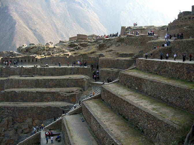 The ruins in Ollantaytambo, Peru