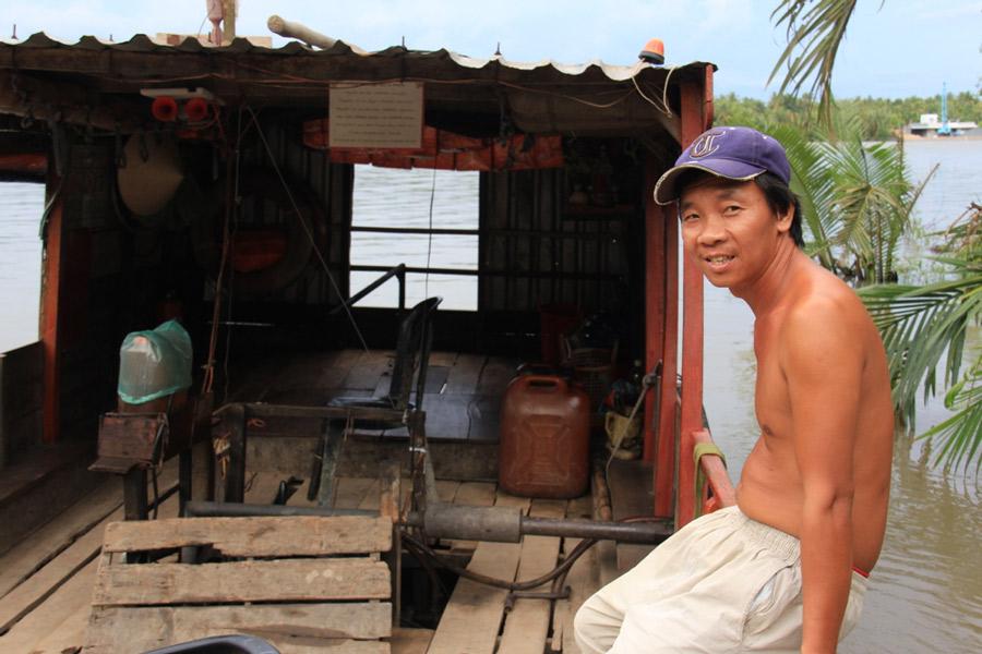 Ferry in Ben Tre, Vietnam