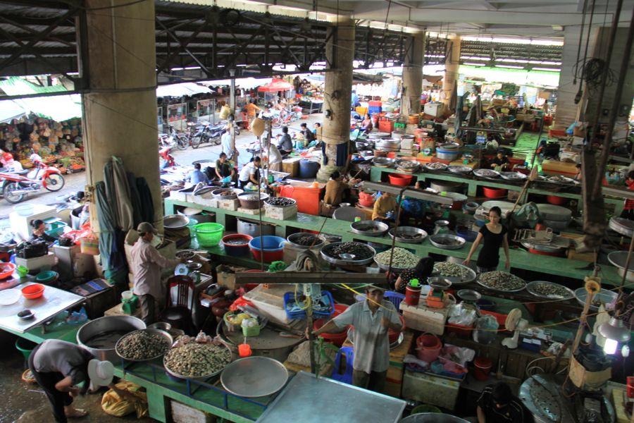 Wet Market Ben Tre, Vietnam