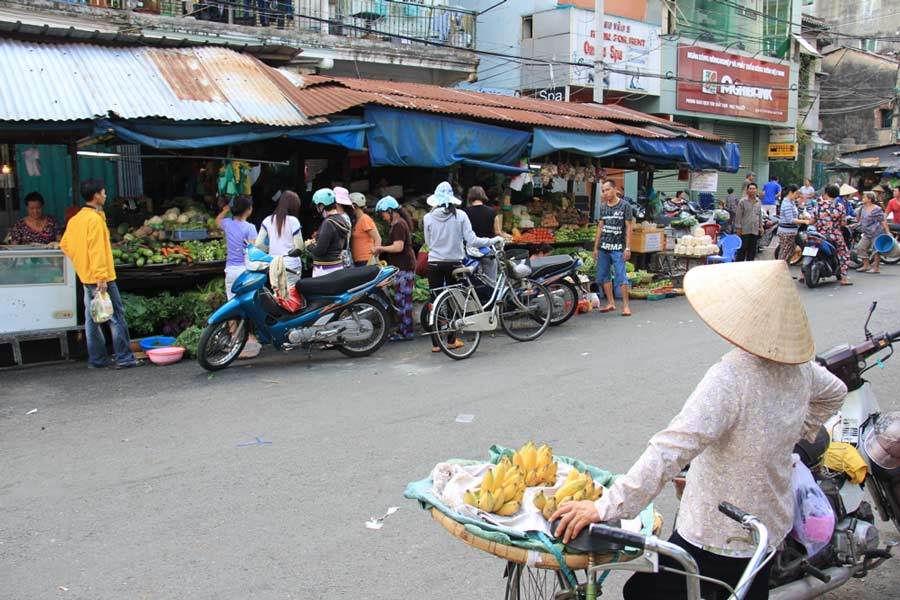 Saigon Market Banana Lady