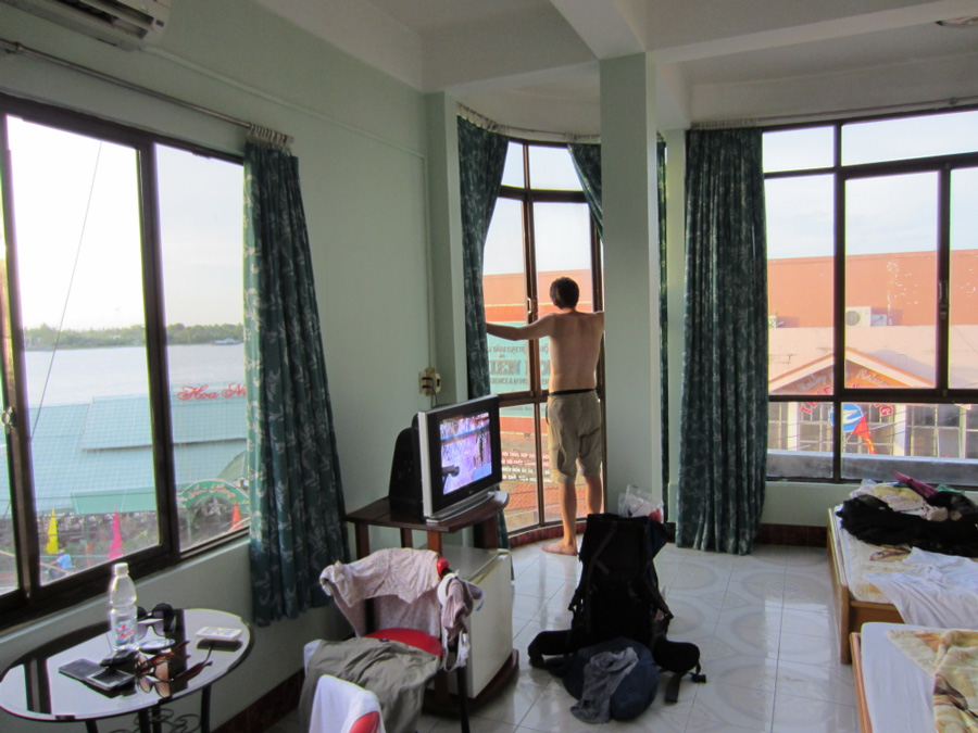 View from Van Tram Guesthouse in Vinh Long, Vietnam