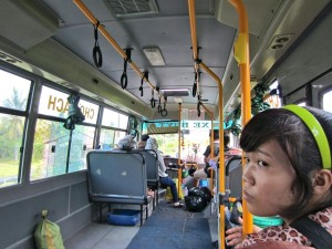 A local bus heading into Vinh Long, Vietnam