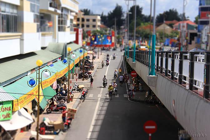 Outside the market in Ben Tre, Vietnam