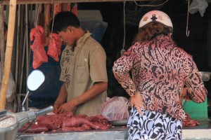Beef stall at a Vietnamese market