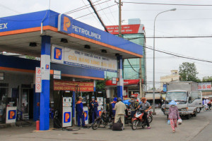 Gas station in Vietnam