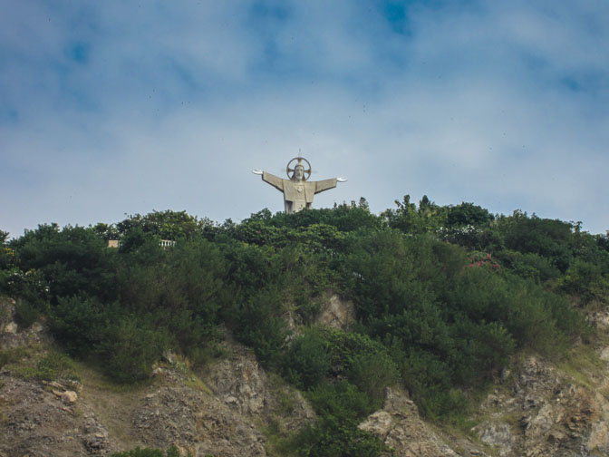 Large statue of Jesus in ung Tau, Vietnam