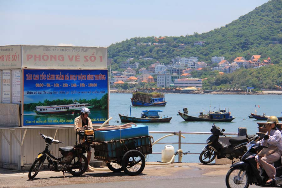 Vung Tau, Vietnam along the water