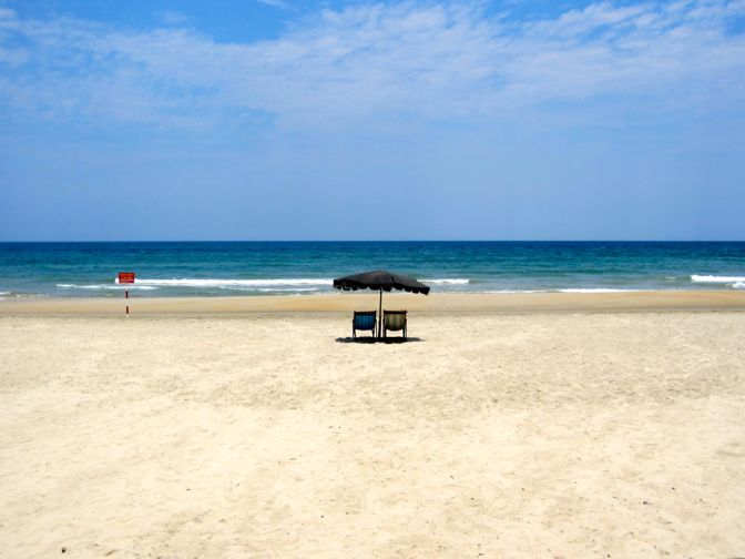 A beach in Da Nang, Vietnam