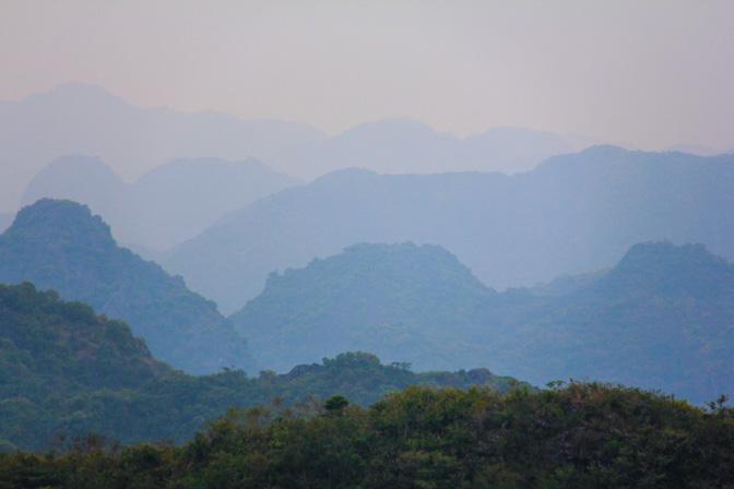 Cat Ba Island Hills in Vietnam