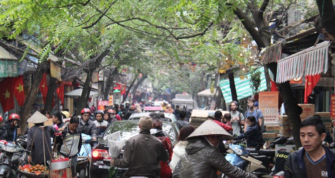 Hanoi Vietnam old quarters.
