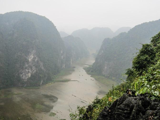 Hang Mua cave's viewpoint in Trang An Vietnam