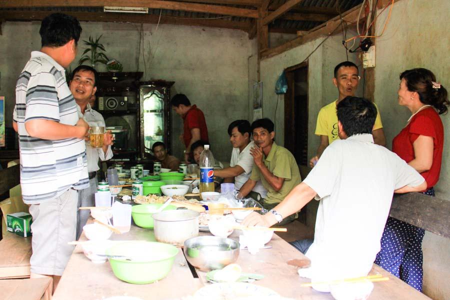 Dinner party in Ea H'leo, Dak Lak, Vietnam