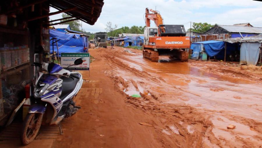 Phu Quoc mud puddles