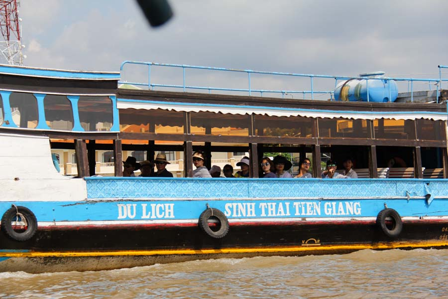 My Tho, Vietnam tourist boat on the Mekong River