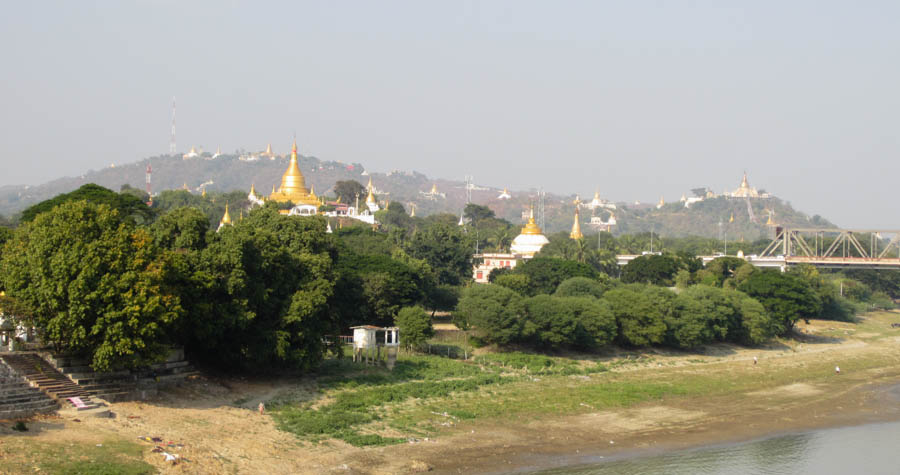 The city of Sagaing in Myanmar.