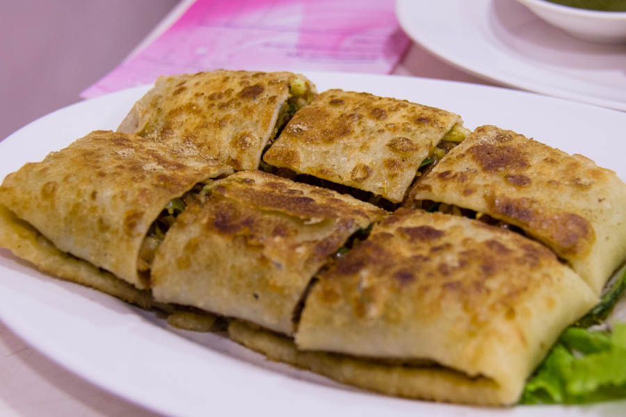 Nilar Biryani's stuffed chicken paratha.