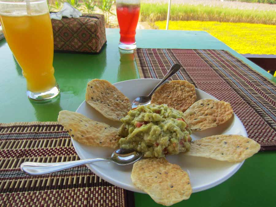 Avocado salad at Inle Heart View Restaurant in Inle Lake, Myanmar