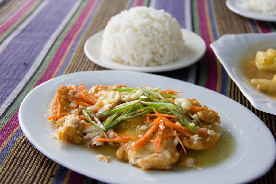 Fish and rice in Inwa, Myanmar