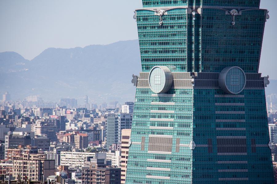 Taipei 101's mid-section