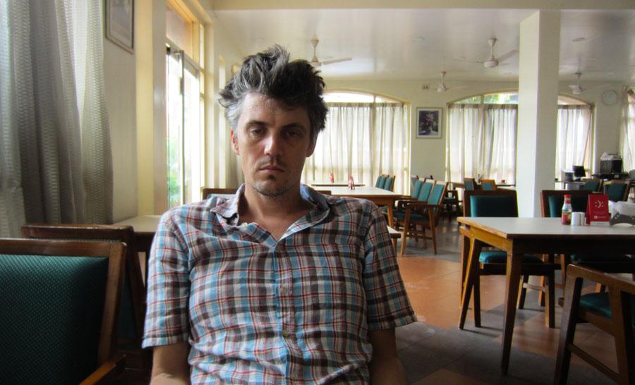 Ryan in India looking like crap.