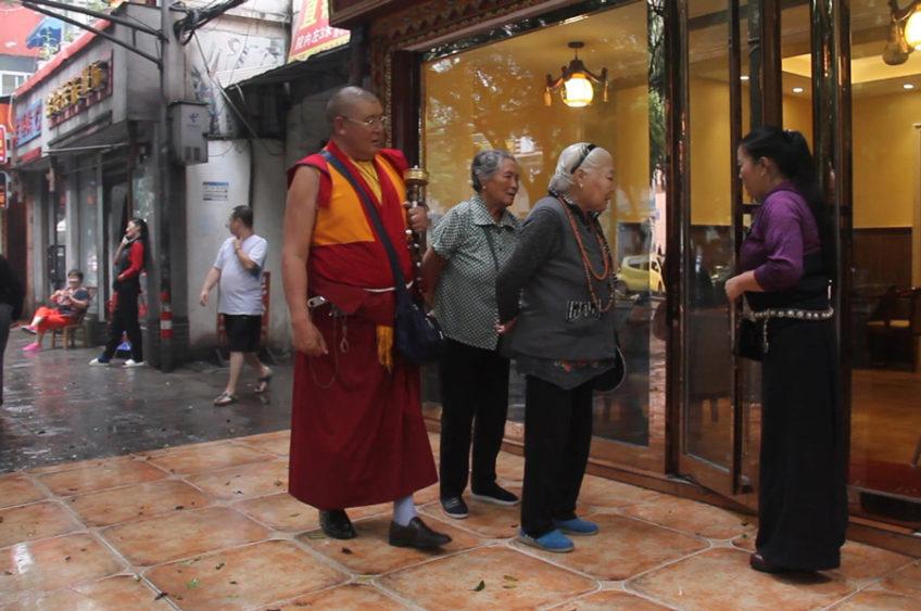 Monk in Little Lhasa, Chengdu, China