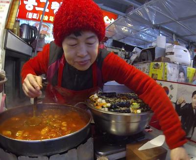 Food vendor in Gwangjang Market