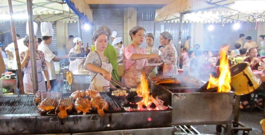 ben thanh night market fish cook
