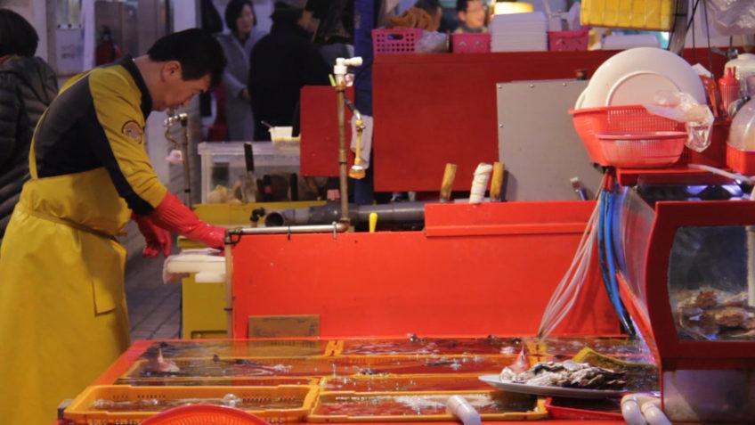 Inside Jagalchi Market in Busan - South Korea's largest seafood market