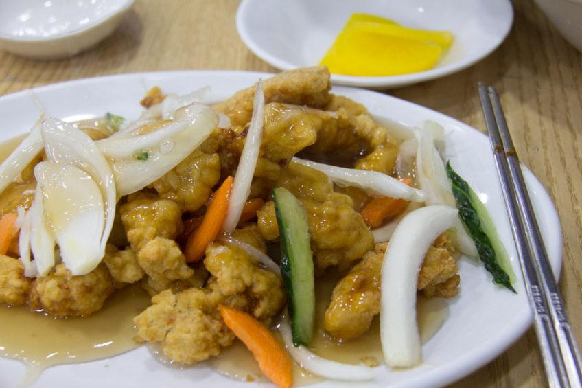 Tangsuyuk - Korean version of sweet and sour pork