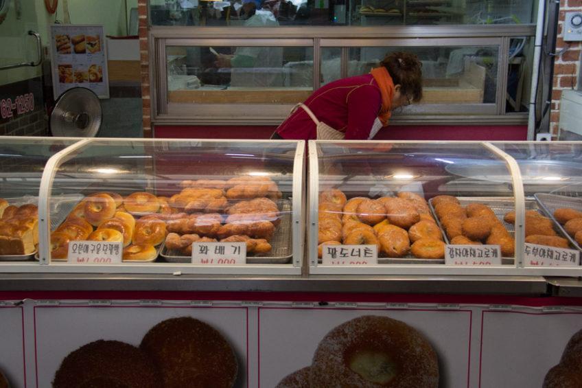 doughnuts in Simpo Market, Incheon, South Korea