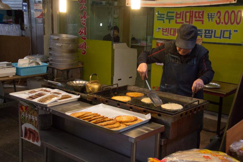 jeon in Sinpo Market, Incheon, South Korea