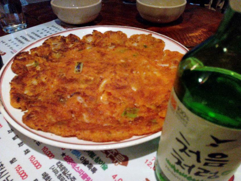 Kimchi-buchimgae (김치부침개) a korean kim chi pancake