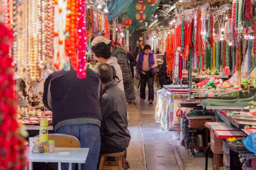 Hong Kong jade market